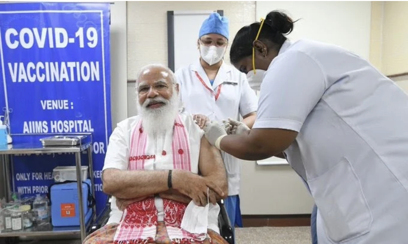 "PM Narendra Modi Takes First Shot of Covaxin, ""Appeals"" Eligible Citizens to Take Vaccine"